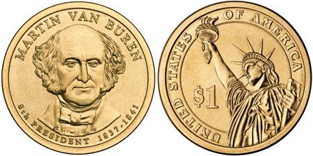 Martin Van Buren gold dollar
