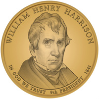 2009 William Henry Harrison Presidential Dollar Design