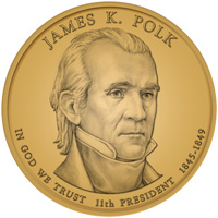 2009 James K. Polk Presidential Dollar Design