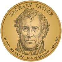 2009 Zachary Taylor Presidential Dollar Design