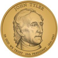 2009 John Tyler Presidential Dollar Design