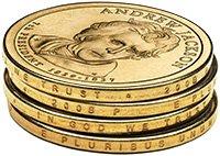Presidential Dollar Edge Lettering