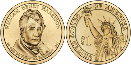William Henry Harrison Presidential Dollar