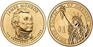 James Monroe Presidential Dollar
