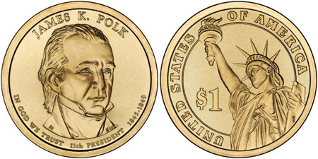 James K. Polk Presidential Dollar