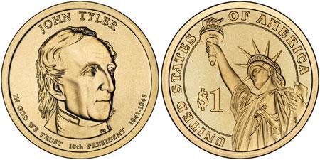 John Tyler Presidential Dollar