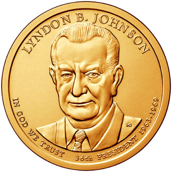 Lyndon B. Johnson Presidential Dollar
