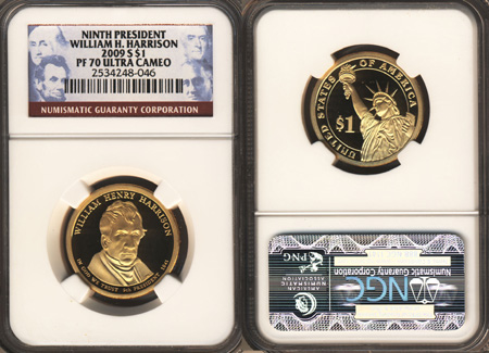 2013 S NGC PF70 PRESIDENTIAL DOLLAR PROOF COIN SET